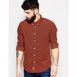 Lee Regular Fit Cord Shirt Burnt Henna - Orange