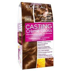 Loreal Paris Casting Creme Gloss Farba do włosów bez amoniaku Czekoladowy Nugat nr 603