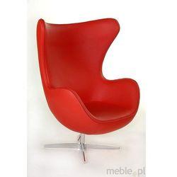 Fotel Jajo w czerwonej skórze