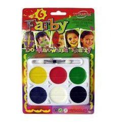 Farby do malowania twarzy 6 kol.