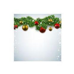 Foto naklejka samoprzylepna 100 x 100 cm - Boże Narodzenie w tle z gałęzi jodłowych.
