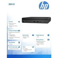HP Inc. Desktop Mini 260DM G3 i3-7130U 500/4GB/W10P 4VF99EA