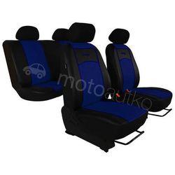 Pokrowce samochodowe uniwersalne Eko-skóra Niebieskie BMW Seria 1 E81/E87 2004-2013 - Niebieski