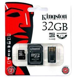 KINGSTON Karta Pamięci microSDHC 32GB z adapterem SD i czytnikiem USB (MBLY10G2/32GB)