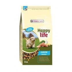 Versele Laga Happy Life JUNIOR Chicken 3kg/10kg - karma dla szczeniąt i młodych psów z drobiem i mlekiem Waga:3 kg