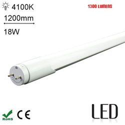 LED 120CM T8 18W 4000K SC Świetlówka LED neutralna 1200mm o mocy 18W 1300 lumenów 4000K