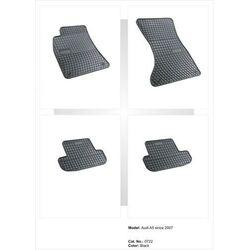Dywaniki gumowe czarne z kompletem stoperów - Audi A5 od 2007