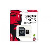 Kingston Karta pamięci Kingston microSDHC Canvas Select 16GB UHS-I Class 10 + adapter
