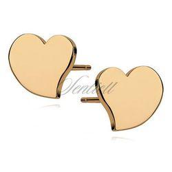 Srebrne kolczyki serca pozłacane - Z1000G