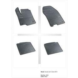 Dywaniki gumowe czarne z kompletem stoperów - Suzuki SX4 II od 2013