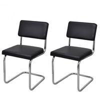 Krzesła jadalniane x2 Nowoczesny design Sztuczna skóra Zapisz się do naszego Newslettera i odbierz voucher 20 PLN na zakupy w VidaXL!
