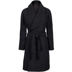 Krótki płaszcz z wykładanym kołnierzem bonprix czarny