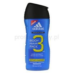 Adidas A3 Sport Energy żel pod prysznic dla mężczyzn 250 ml + do każdego zamówienia upominek.