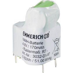 Pakiet akumulatorów NiMH Emmerich 3032-D1-R7, 4,8 V, 170 mAh