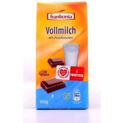 Czekolada mleczna z fruktozą bezglutenowa 100g Frankonia