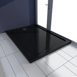 vidaXL Brodzik prysznicowy prostokątny ABS czarny 80 x 110 cm Darmowa wysyłka i zwroty