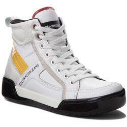Sneakersy CALVIN KLEIN JEANS Nikole R0806 WhiteWhiteSunflowe