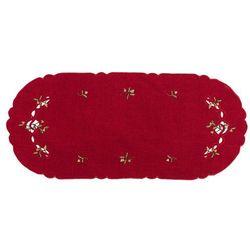 Forbyt Obrus świąteczny jemioła, czerwony, 40 x 90 cm