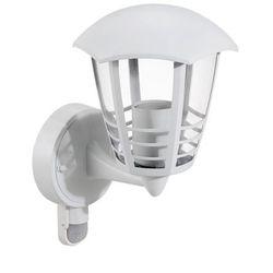 Zewnętrzna LAMPA elewacyjna MARSELLIE 8647 Rabalux metalowa OPRAWA ścienna KINKIET z czujnikiem ruchu IP44 outdoor biały