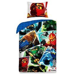 Halantex Dziecięca pościel bawełniana Lego Ninjago, 140 x 200 cm, 70 x 90 cm