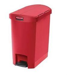 Plastikowy kosz z pedałem | czerwony | 30 lub 50L