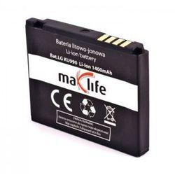 Bateria MaxLife LG KU990 1400 mAh Li-Ion