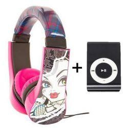 Słuchawki Dla Dzieci Monster High + Odtwarzacz MP3