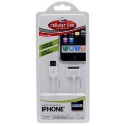 Ładowarka samochodowa CELLULAR LINE IPHONE3G/3GS/4 IPOD (USBDOCKCIPHONE)
