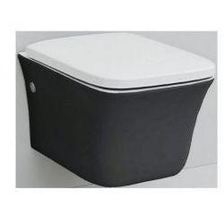 Miska wisząca WC Artceram Cow CWV001 czarna/biała, 37 x 54 cm, deska wolnoopadająca CWV001 01; 50
