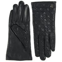 RĘKAWICZKI TOMMY HILFIGER QUILTED HOUNDSTOOTH GLOVES MASTERS BLACK
