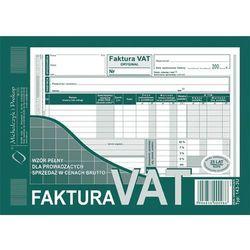 Faktura VAT-z wzór pełny dla prowadzących sprzedaż w cenach brutto A5 oryginał + kopia