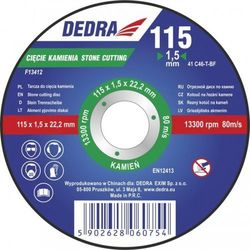 Tarcza do cięcia DEDRA F13424 125 x 3 x 22.2 mm do kamienia