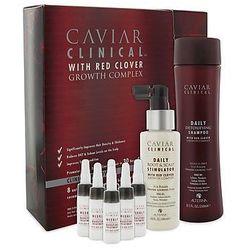 Alterna Caviar Clinical Zestaw pogrubiający i aktywujący wzrost włosów: szampon 250ml+spray100ml+kuracja6x7ml