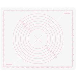 Stolnica silikonowa z podziałką - 55x45 cm - odcienie bieli