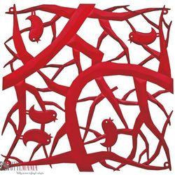 Panel dekoracyjny Koziol Pi:P ptaszki czerwony 4 szt. KZ-2042536