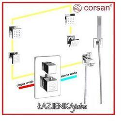 CORSAN Zestaw podtynkowy z termostatem, chrom CM-01T_HW