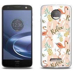 Fantastic Case - Lenovo Moto Z Force - etui na telefon Fantastic Case - różowe flamingi