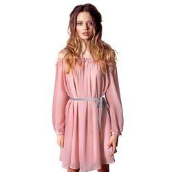 Sukienka z różowego szyfonu
