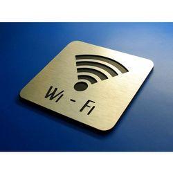 Piktogram, Symbol, Wi-FI aluminium 10 x10 cm IN