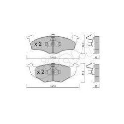 CIFAM Zestaw klocków hamulcowych, hamulce tarczowe - 822-206-0