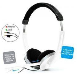 Słuchawki z mikrofonem białe włoskiej marki JoyStyle