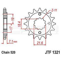 Zębatka przednia JT F1321-13, 13Z, rozmiar 520 2201443 Honda CBR 250