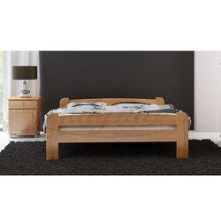 Łóżko drewniane Ania 140x200 z materacem piankowym