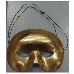 Maska Wenecja Metalik Złota, przebrania , kostiumy dla dzieci