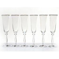 Zdobione kieliszki do szampana -