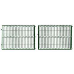 Brama panelowa ocynkowana zielona 152cm x 400cm