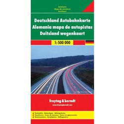 Niemcy mapa autostrad 1:500 000 Freytag & Berndt