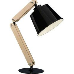 Stojąca LAMPKA biurkowa KOBE II 20656 Sigma drewniana LAMPA stołowa regulowana czarny