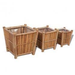 Zestaw trzech bambusowych koszy do sadzenia roślin z nylonowym podszyciem Zapisz się do naszego Newslettera i odbierz voucher 20 PLN na zakupy w VidaXL!