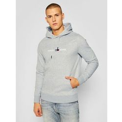 Tommy Jeans Bluza Tjm Straight Logo Hoodie DM0DM08474 Szary Regular Fit